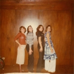 Party at Meg Mitchell's house.  L-R:  Kim Diamond, Joyce Amicone, Carey Cusey and Debby Trinkle.