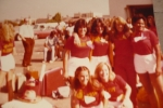The photo is blurry but here goes: Back row L-R, Cindy Gonzales, Christy Willis, Nickey Taber, Sidni Escort. Front Row L