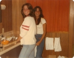 Meg M and Sherie B on vacation in Lake Tahoe 1978