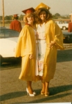 Cathy N and Meg M Graduation Day 1980