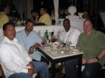 Gary Dagampat, Andre Collins, Dwayne Williams and Jeff Myers.  What a great looking group! Nice to see you guys.
